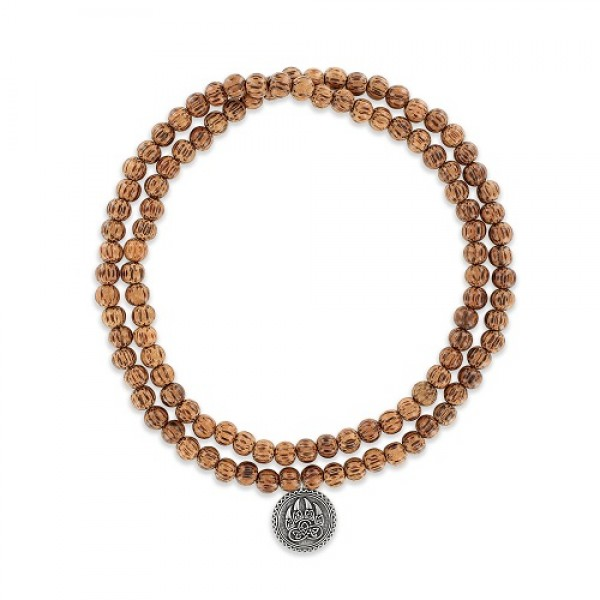 Mens' Palmwood Mala  Mala Necklace
