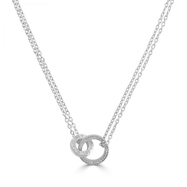 Love  Knot Necklace  with Cubic Zirconia