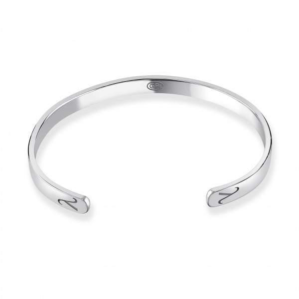 Men's Sterling Silver Bangle Lambda