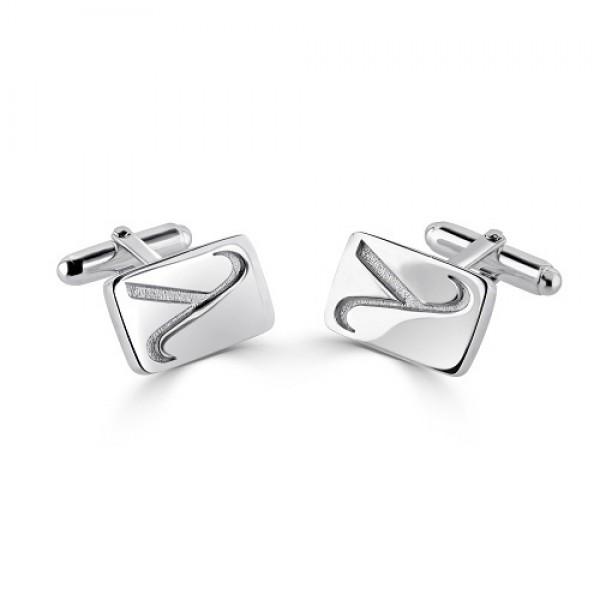 Men's Sterling Silver Cufflinks with Lambda Symbol