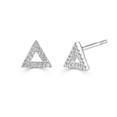 Triangle Sparkling Stud Earrings