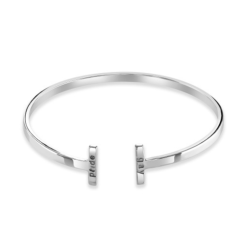 Womens T Bar Cuff And  Pride Bangle