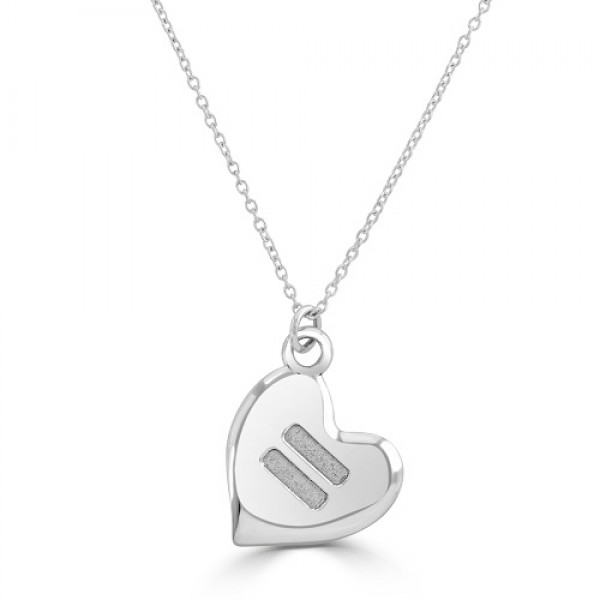 Women's Silver Equality Necklace with Hart Pendant