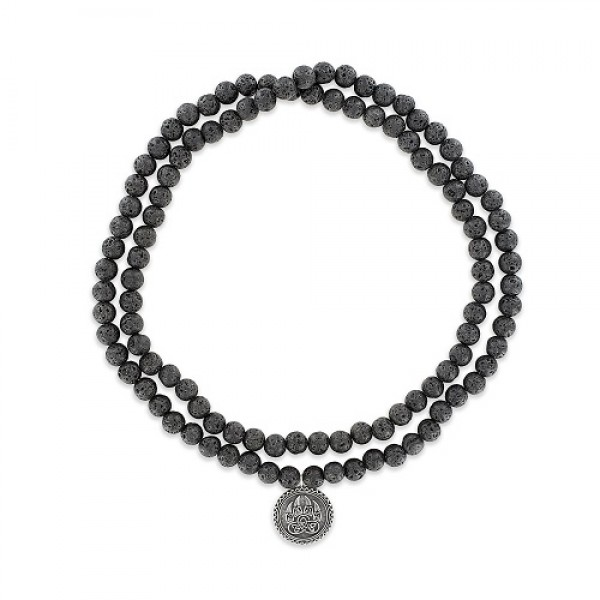 Men's Lava Rock Mala Necklace